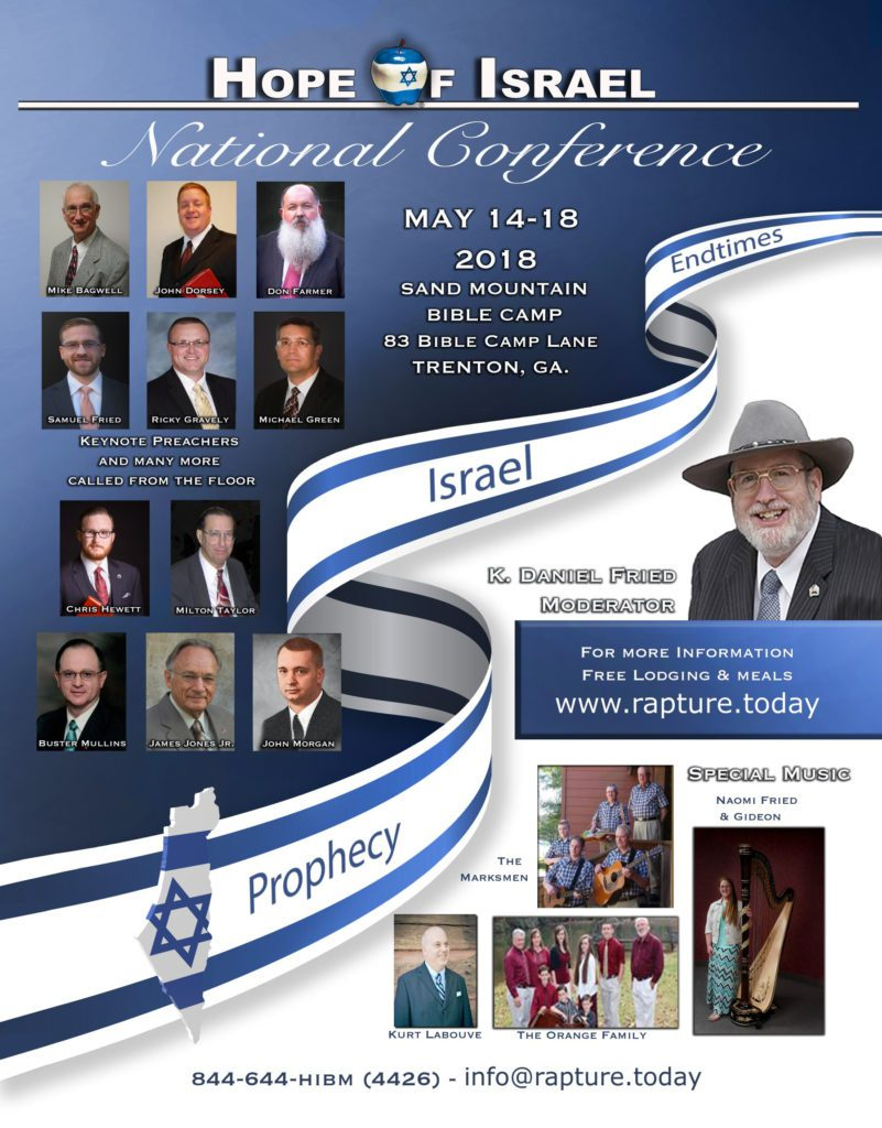 HOPE OF ISRAEL NATIONAL CONFERENCE – MAY 14-18, 2018
